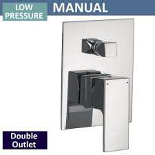 Shower Faucet Diverter Qualitex Ascent Showering Square Manual Shower Valve With