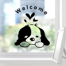 glass door decals aliexpress com buy welcome kids room dogs door sticker funny