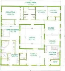 Home Plans With A Courtyard And Swimming Pool In The Center Shaped Courtyard House Plans Central Courtyard House Plans