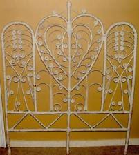 Shabby Chic Twin Headboard by Jeffan Peacock Rattan Twin Headboard White Ebay