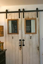 Inside Barn Door by The Polished Pebble The 4 Doors Barn Door Project Finished