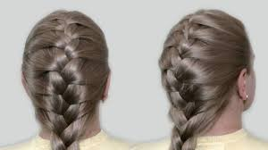 hairstyles easy to do for medium length hair classic french braid by yourself tutorial hairstyles for medium