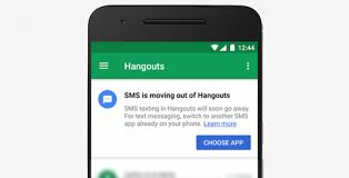 hangouts app android hangouts for android no longer supports sms as of this week