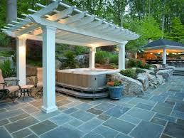 cool tub backyard ideas with additional decorating home ideas