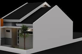small house design 3d model cgtrader