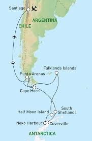 Cape Horn Map Antarctica Singles Holidays Escorted Tours Just You