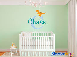 Monogram Wall Decals For Nursery T Rex Baby Dinosaur Name Monogram Wall Decal Nursery Room