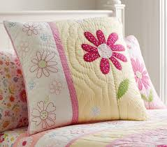 Pink And Yellow Bedding Daisy Garden Quilt Pottery Barn Kids