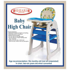 Infant High Chair Shears Baby High Chair Infant High Feeding Seat 3in1 Toddler Table