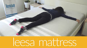leesa 1 week with a mattress from a box youtube