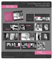 5x5 album 5 5 mod pink album boudoir business boutique