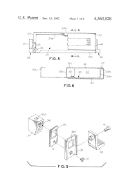 patent us4363528 switchboard cubicle door hinge and latch