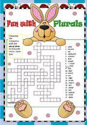 english exercises regular and irregular plurals