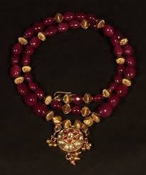 ruby beads necklace images Pigeon blood mogul polki and ruby bead necklace item 1291706 jpg