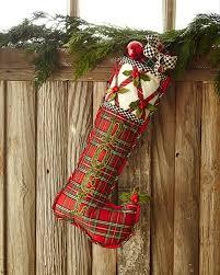 tartan yuletide noel christmas stocking by mackenzie childs at