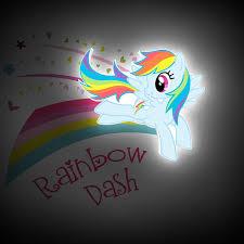 my little pony mini 3d led wall light rainbow dash amazon co uk
