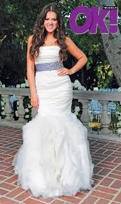 mermaid wedding dress wedding khloe and lamar odom mermaid wedding