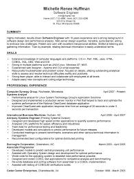 Sample Resume For Senior Software Engineer by Resume Resume Software Developer Free Resume Sample Software