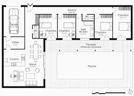 plan maison 4 chambres plan maison plain pied 4 chambres avec suite parentale frais plan