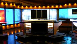 News Studio Desk by Whp Tv New News Set Installation