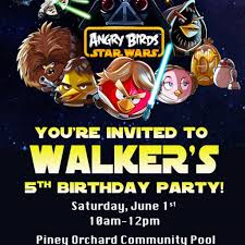angry birds star wars birthday party invitation printable file