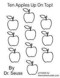 ten apples characters coloring pages google