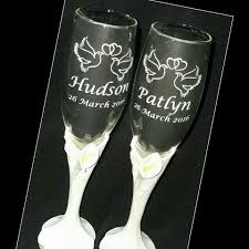 wedding gift glasses wedding toasting glasses gift giftideas engraving sandblast