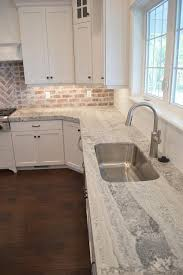 brick backsplash in kitchen best 25 brick backsplash white cabinets ideas on