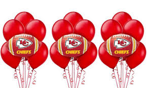 balloon delivery kansas city mo nfl kansas city chiefs party supplies party city
