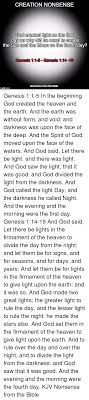 what day did god create light creation nonsense god created light on the first day so why did he