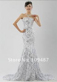 sequined wedding dress shock models dress lace wedding dress sequined fishtail gown royal