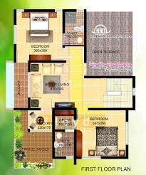 Villa Floor Plans by 2000 Sqfeet Villa Floor Plan And Elevation House Design Plans