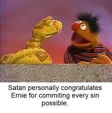 Ernie Meme - satan thanks ernie bertstrips know your meme