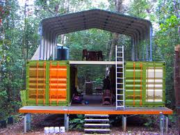 decor conex box houses with canopy and ladder for cool home