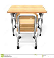 Student Desk Clipart A Desk Back View Stock Photo Image 31650330