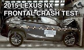 lexus van 2015 2015 lexus nx crash test frontal youtube