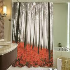 online get cheap bath shower screen panel aliexpress com red grass forest polyester shower curtain 180x180cm panel sheer bath screen home bathroom textiles shower cover