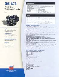 ford u0027s 7 3 l power stroke engine data sheets powertech engines
