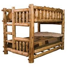 cedar log bunk beds