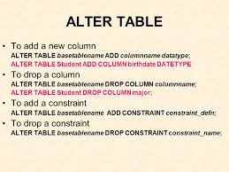 Alter Table Drop Column Sql Components Of Sql Data Definition Language Ddl U2013to Create