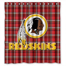Nfl Curtains Redskins Shower Curtains Shower Curtains Outlet