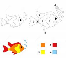 fish color by number coloring pages 8 funnycrafts