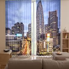Office Curtain 3d Digital Print Curtains