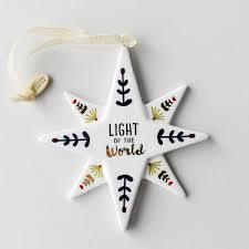 light of the world ornament dayspring