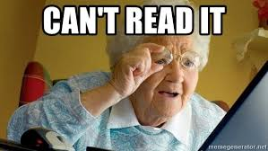 Meme Grandmother - can t read it grandmother senta aqui meme generator