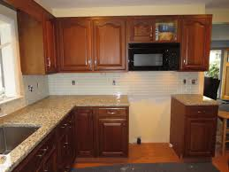 Installing A Backsplash In Kitchen by Kitchen Horizontal Glass Tile Backsplash Img How To Install