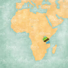 Africa On The Map by Map Of Africa Tanzania Stock Vector Art 610770256 Istock