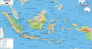 Map Of Equator Physical Map Of Indonesia Ezilon Maps