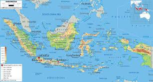 Physical Map Of Australia Physical Map Of Indonesia Ezilon Maps