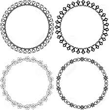 set of decorative frames royalty free cliparts vectors and